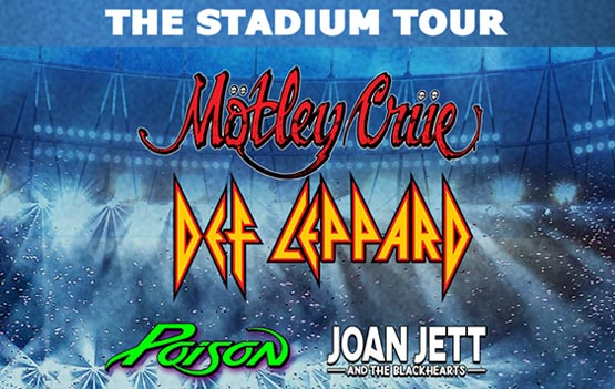 Motley Crue with Def Leppard and Poison